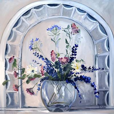 Painting - The Antique Window by Donna Tuten