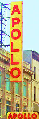 Apollo Theater Photograph - The Apollo Theater In Harlem Neighborhood Of Manhattan New York City 20180501 by Wingsdomain Art and Photography