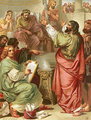 Marcus Painting - The Apostle Paul Before Felix by English School