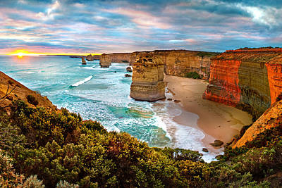 Australia Photograph - The Apostles Sunset by Az Jackson