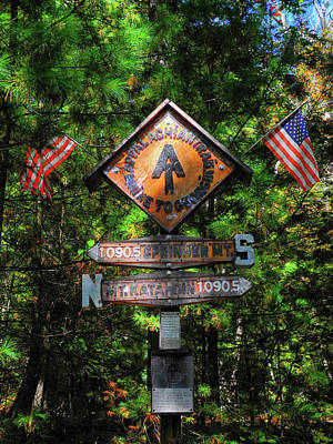 Photograph - The Appalachian Trail Half Way Point by Raymond Salani III