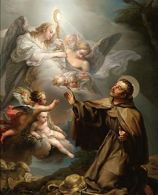The Apparition Of The Eucharist To San Pascual Bailon Art Print