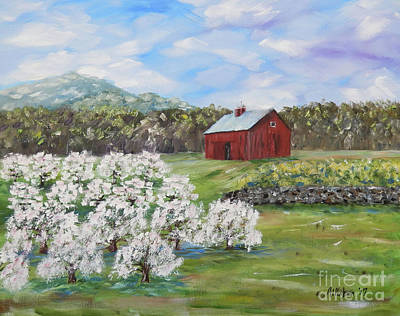 Painting - The Apple Farm by Stanton Allaben