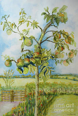 Apple Painting - The Apple Tree by Joan Thewsey