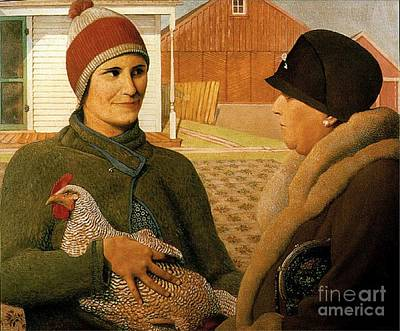 Grant Wood Painting - The Appraisal by Celestial Images