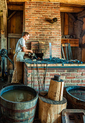 Antique Ironwork Photograph - The Apprentice 3 by Steve Harrington