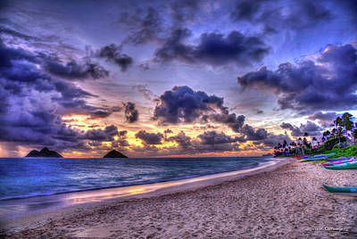 Photograph - The Approaching Dawn Lanikai Beach Oahu Hawaii Collection Art by Reid Callaway