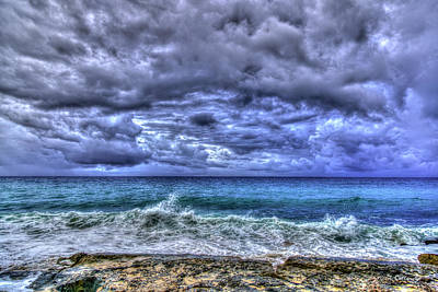 Photograph - The Approaching Storm Oahu Waves Hawaii Collection Art by Reid Callaway
