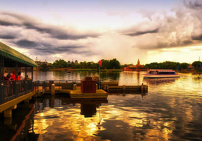 Photograph - The Approaching Storm Walt Disney World by Thomas Woolworth