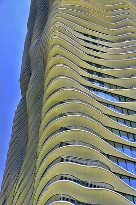 Photograph - The Aqua Building # 2- Chicago by Allen Beatty