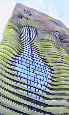 Photograph - The Aqua Building # 3 - Chicago by Allen Beatty