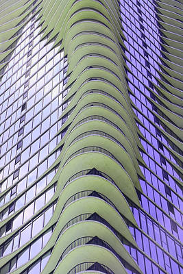 Photograph - The Aqua Building # 4 - Chicago by Allen Beatty