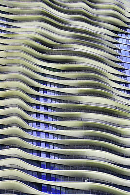 Photograph - The Aqua Building # 5 - Chicago by Allen Beatty