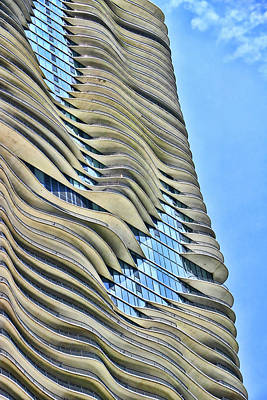 Photograph - The Aqua Building # 6 - Chicago by Allen Beatty