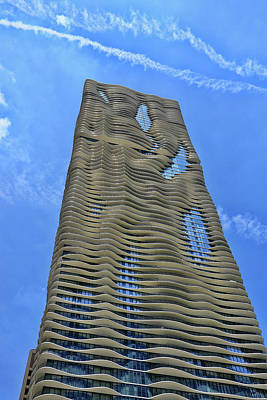 Photograph - The Aqua Building - Chicago by Allen Beatty
