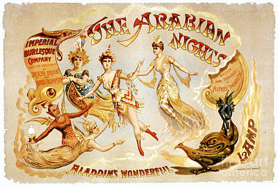 Burlesque Digital Art - The Arabian Nights Burlesque by Carsten Reisinger