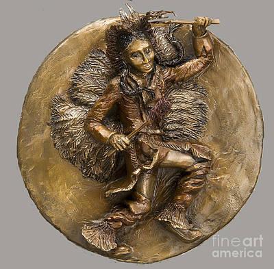 Sculpture - The Arapaho Dancer by Dawn Senior-Trask