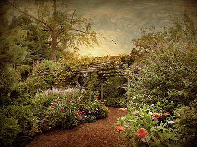 Garden Flowers Photograph - The Arbor by Jessica Jenney