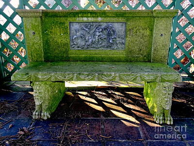 Photograph - The Arbour Bench by Ed Weidman