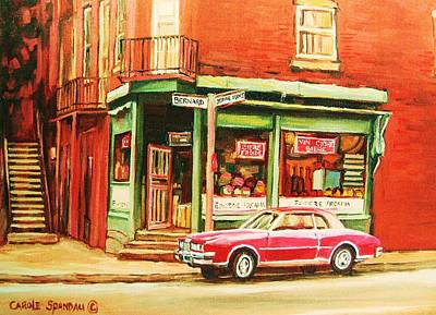 Our National Sport Painting - The Arcadia Five And Dime Store by Carole Spandau