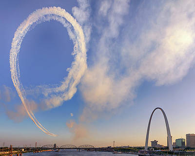 Photograph - The Arch Airshow by Susan Rissi Tregoning