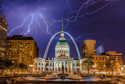 Jefferson National Expansion Memorial Photograph - The Arch And The Bolts by Chris Martin