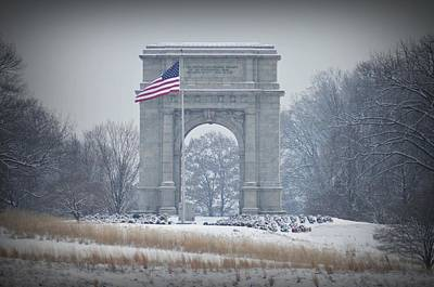 The Arch At Valley Forge Print by Bill Cannon