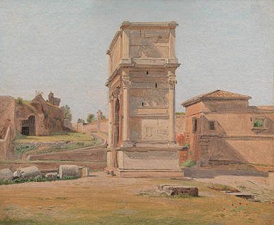 Villa Painting - The Arch Of Titus In Rome, 1839 by Carl Christian Constantin Hansen