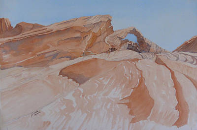 Art Print featuring the painting The Arch Rock Experiment - Vi by Joel Deutsch
