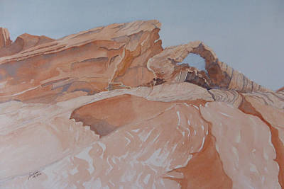 Art Print featuring the painting The Arch Rock Experiment - Vii by Joel Deutsch