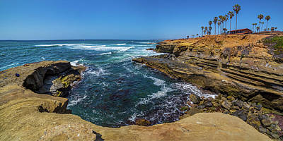 The Arch - Sunset Cliffs Art Print by Peter Tellone