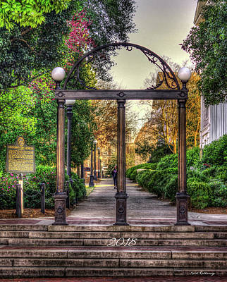 Photograph - The Arch U G A 2018 University Of Georgia Art by Reid Callaway