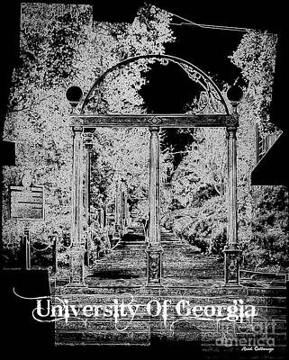 Photograph - The Arch University Of Georgia B W Art by Reid Callaway