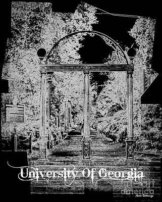 Photograph - The Arch University Of Georgia B W Art by Reid Callaway