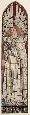 Gabriel The Angel Painting - The Archangel Gabriel by William Morris