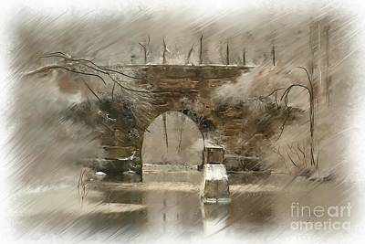 Painting - The Arched Stone Bridge by Earl Jackson