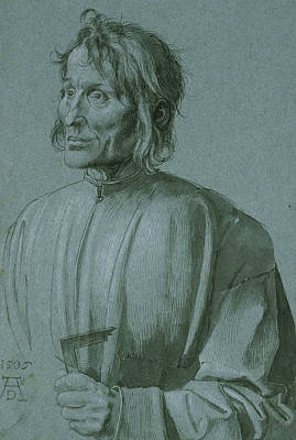 Drawing - The Architect Hieronymus Von Augsburg by Albrecht Durer