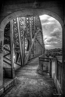 Photograph - The Archway B W Market Street Bridge John Ross Bridge Art by Reid Callaway