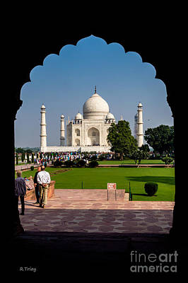 Photograph - The Archway And The Taj Mahal by Rene Triay Photography