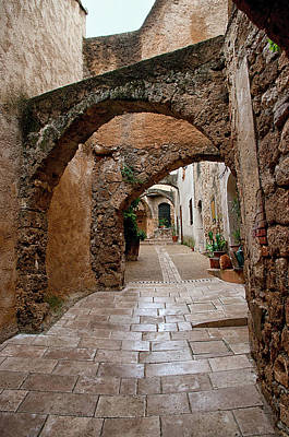 Photograph - The Archways Of Villecroz by Jacqi Elmslie