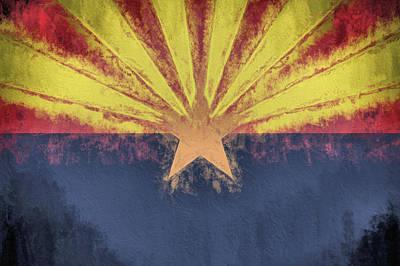 Digital Art - The Arizona Flag by JC Findley