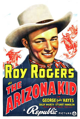 Mixed Media - The Arizona Kid 1939 by Republic