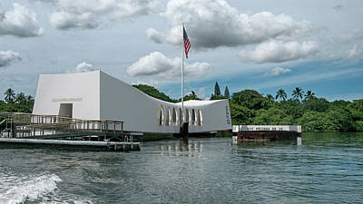Photograph - The Arizona Memorial by Susan Rissi Tregoning