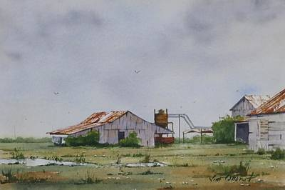 Oberst Painting - The Arkansas Delta by Jim Oberst