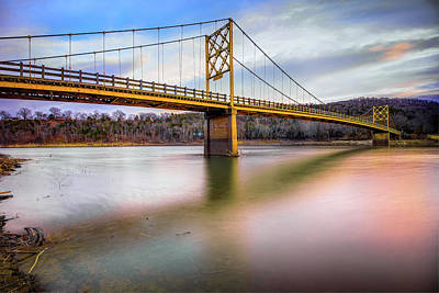 Photograph - The Arkansas Little Golden Gate Bridge by Gregory Ballos