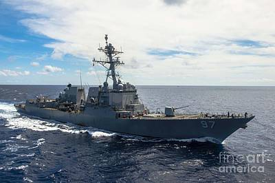 The Arleigh Burke-class Guided-missile Destroyer Art Print by Celestial Images