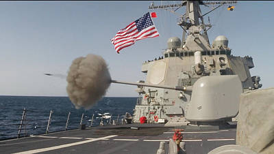 Destroyer Photograph - The Arleigh-burke Class Guided-missile Destroyer Uss Curtis Wilbur by Celestial Images