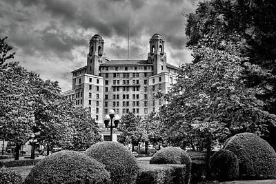 Photograph - The Arlington Hotel - Hot Springs Arkansas - Black And White by Gregory Ballos