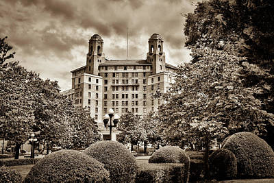 Photograph - The Arlington Hotel - Hot Springs Arkansas - Sepia by Gregory Ballos