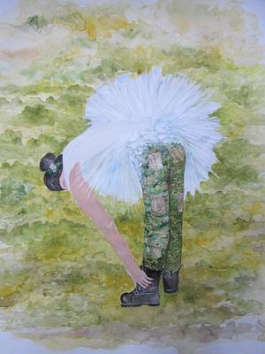 Bride Painting - The Army Of The Lord...time To Put On Our Combat Boots by Rachael Pragnell